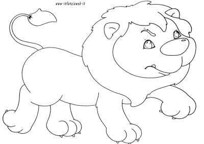 Disegni Da Colorare Categoria Animali Immagine Leone