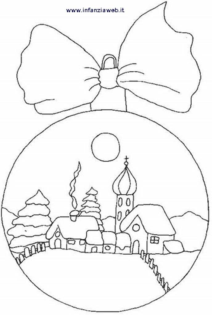 Disegni Paesaggi Di Natale.Natale Infanziaweb